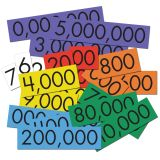 Sensational Math  Place Value Cards, 7-Value Whole Numbers, Set of 70