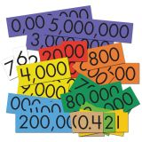 Sensational Math™ Place Value Cards, 10-Value Decimals to Whole Numbers, Set of 1,200