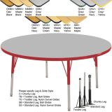 Adjustable T-Mold Activity Table, 36 Round