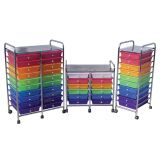 Mobile Organizer, 10 Drawer Single Wide, Assorted