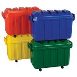 Stackable Storage Trunks,  Set of 4. Red, Blue, Yellow & Green