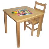 Deluxe Hardwood Table, 24 x 24 Square with 22 Legs