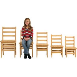 Ladder Back Chairs, 10 seat height, Set of 2