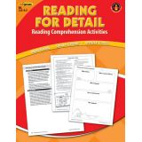 Reading for Detail Reading Comprehension Activities, Blue Level