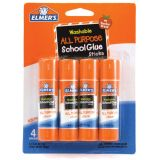 Elmer's® Washable School Glue Sticks, All Purpose, 4-pack