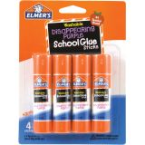 Elmer's® Washable School Glue Sticks, Disappearing Purple, 4-pack