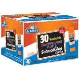 Elmer's® Washable School Glue Sticks, Disappearing Purple, 30-pack