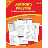 Author's Purpose Reading Comprehension Activities, Red Level