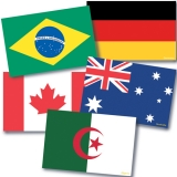 International Flags Instructional Accents