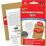 Informational Text Reading Comprehension Practice Cards, Reading Levels 2.0-3.5