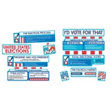 Dr. Seuss™ Cat in the Hat™ for President Electoral Process Mini Bulletin Board Set
