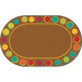 Sitting Spots Rug, 7'6 x 12' Oval, Muted