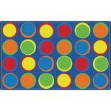 Sitting Spots Rug, 6' x 8'4 Rectangle, Primary