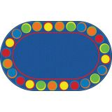 Sitting Spots Rug, 7'6 x 12' Oval, Primary