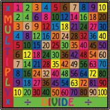 Math Operations Rug, Multiplication/Division, 6' x 6' Square