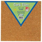 Cork Tiles, 12 x 12, Set of 4