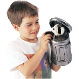 Raccoon In Garbage Can Hand Puppet