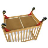 First Responder® Evacuation Frame, Antique Brass Casters for Natural Cribs