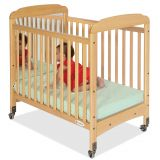 Serenity® Compact-Size Crib with Natural EverClear™ Finish, Fixed-Side with Mirror End Panels