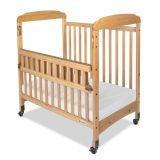 Serenity® Compact-Size Crib with Natural EverClear™ Finish, SafeReach® with Clearview End Panels