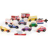 Wooden Vehicle Collection, Set of 12