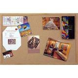 Wood Frame Natural Corkboard, 36 x 46 1/2
