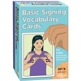 Basic Signing Vocabulary Cards, Set B