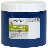 Handy Art® Washable Finger Paint, 16 oz., Blue