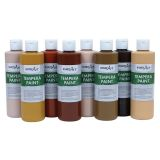 Handy Art® Multicultural Tempera Paint, 8 oz. each, Set of 8