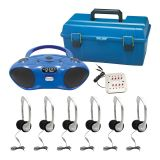 CD/FM/Bluetooth Media Player & 6-Station Listening Center, Personal Headphones w/volume control