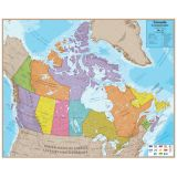 Hemispheres® Laminated Map, Canada
