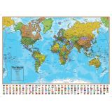 Hemispheres® Laminated Map, World