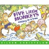 Carry Along Book & CD, Five Little Monkeys Sitting in a Tree