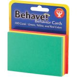 Behavior Cards, 2 x 3, Pack of 100, Assorted