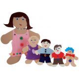 Rainbow Brights™ Family Cut-Outs, 7 Mommy