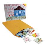 Color and Mail Puzzles, 25 Pack, 5 x 7