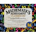 Math Achievement Certificate