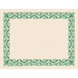 Art Deco Border Paper, Green