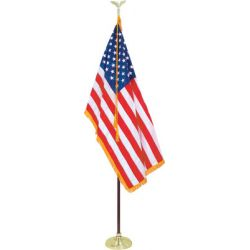 Presidential Indoor U.S. Flag Set, 3' x 5' with 8' pole
