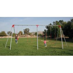 Commercial Swing Set, 2-Bay/4 Swings