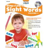 Sing & Learn Sight Words Book & Audio CD, Vol. 1
