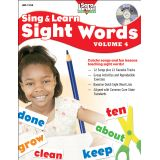 Sing & Learn Sight Words Book & Audio CD, Vol. 4