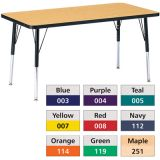Berries® Adjustable Activity Table, Prism, 30 x 60 Rectangle, Blue