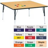 Berries® Adjustable Activity Table, Prism, 48 x 48 Square, Blue