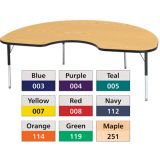Berries® Adjustable Activity Table, Prism, 48 x 72 Kidney, Navy