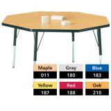 Berries® Adjustable Activity Table, Classic, 48 x 48 Octagon, Maple