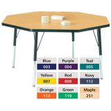 Berries® Adjustable Activity Table, Prism, 48 x 48 Octagon, Orange