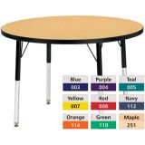 Berries® Adjustable Activity Table, Prism, 48 Round, Purple