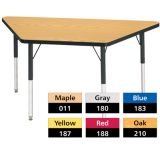 Berries® Adjustable Activity Table, Classic, 30 x 60 Trapezoid, Yellow