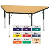 Berries® Adjustable Activity Table, Prism, 30 x 60 Trapezoid, Yellow